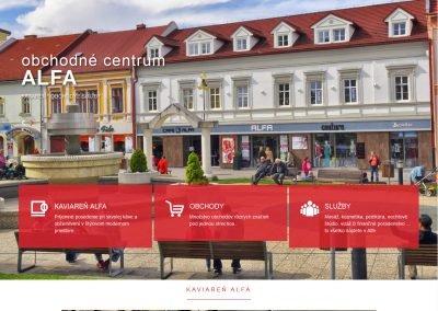 ALFA – obchodné centrum – Poprad